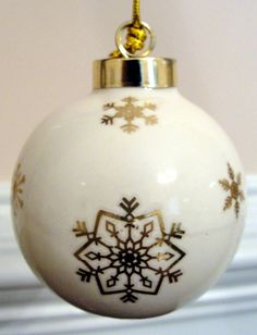 Snow Girl Ornament With Snowflakes and by EllensClayCreations