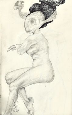 A page from my sketchbook…started out with anatomy practice ended up with this..:)