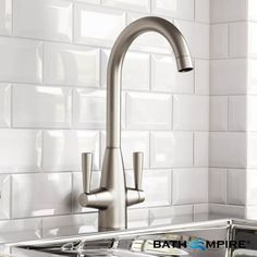 Tinkisso Brushed Steel Kitchen Mixer Taps - Swivel Spout - BathEmpire