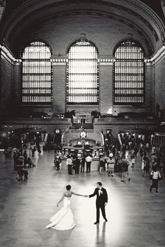 First dance at Grand Central Station. #wedding #weddinginvitations