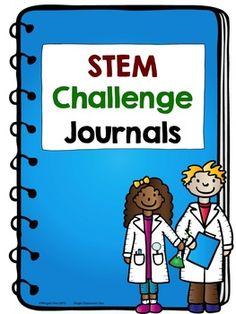 STEM Challenge Journals - Notebook labels, STEMologist Labels, Posters, STEM Question Prompts $