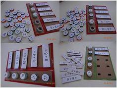 Un juego matemático para aprender las operaciones realizado con tapones…