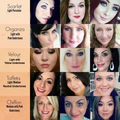 Younique Touch Liquid Foundation Color Matching Guide