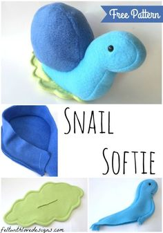 Snail Softie - Tutorial and Free Pattern {Felt With Love Designs}