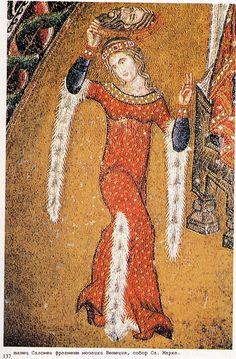 https://ru.wikipedia.org/wiki/Образ_Саломеи_в_изобразительном_искусстве Танец Саломеи фрагмент мозаики. Венеция собор св. Марка. 14 век