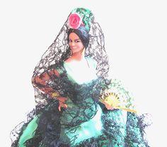 Vintage Souvenir Doll / Marin Spanish Flamenco Dancer