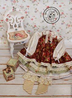 Одежда для кукол ручной работы. Ярмарка Мастеров - ручная работа. Купить Одежда для кукол. Комплект одежды, бохо, шебби шик. Handmade.