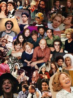 That Show Collage Poster Movies Showing, Movies And Tv Shows, Gilmore Girls, That 70s Show Memes, Thats 70 Show, Serie Friends, 3 Movie, Retro Wallpaper, Cinema