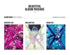 "MONSTA X 1st Album ""BEAUTIFUL"" K_POP CD+Post Photo+booklet+Photocard+2p Poster #Pop"