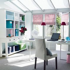 home office, girly