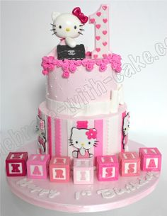 Celebrate with Cake!: Hello Kitty Chanel Bag Tier Cake