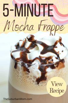 Homemade Mocha Frappe, Mocha Frappe Recipe, Iced Mocha, Mocha Coffee, Snack Recipes, Snacks, Recipes Dinner, Keto Recipes, How To Make Mocha