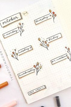 deckblatt schule Bullet journal spread examples and ideas for Fall / Autumn Bullet Journal School, Diy Bullet Journal, Planner Bullet Journal, Bullet Journal Writing, Bullet Journal Headers, Bullet Journal Banner, Bullet Journal Aesthetic, Bullet Journal Spread, Bullet Journal Layout