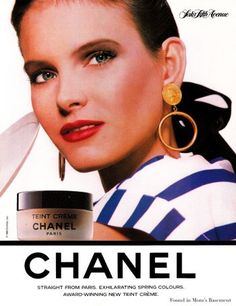 Chanel in 1988.  Very Paris woman: elegant, chic, bourgeois, young & succesfull, yet feminine thanks to the signature red lips.