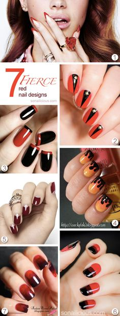 Red is the colour of passion. Also, it's the colour of Halloween. Check out the best 7 red nail designs fierce enough to wear for Halloween and beyond.