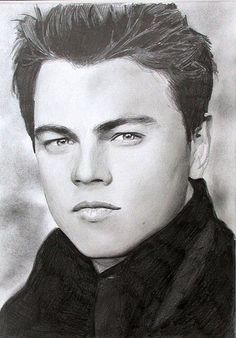 Leonardo de Caprio. Pencil drawing. by Colin Pumfrett, via Flickr