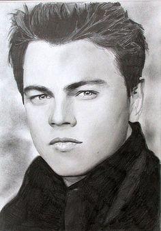 Leonardo de Caprio. Pencil drawing. by Colin Pumfrett, via Flickr
