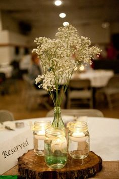 table centers for a party that has a natural color scheme