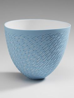 Bone China Pots -Shoal - use slip and scraffito or if using glaze, mask the shoal before dipping.