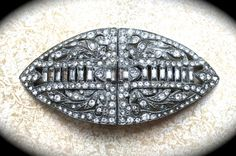Large Duette Vintage Brooch Clip Pave by JNPVintageJewelry on Etsy