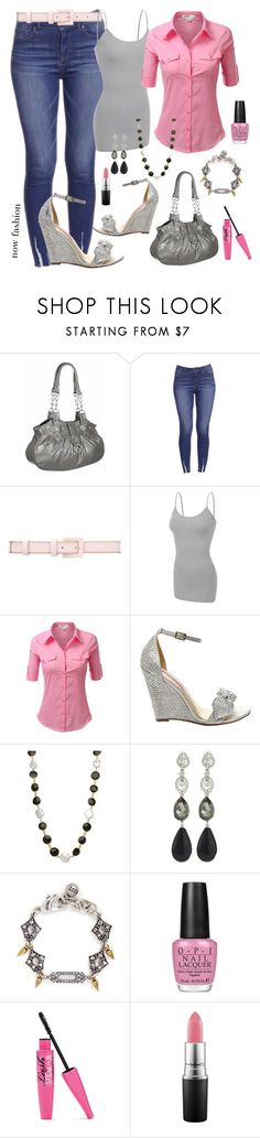 """mahmmod"" by mahmmodhafes on Polyvore featuring Oscar de la Renta, J.TOMSON, Betsey Johnson, Lulu Frost, OPI and MAC Cosmetics"