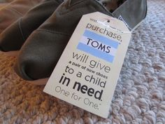 TOMS. one for one