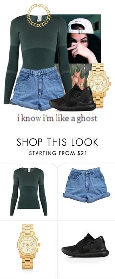 """""""Untitled #217"""" by miss-hollyhood ❤ liked on Polyvore featuring adidas, Bill Blass, Michael Kors, Y-3, Susan Caplan Vintage and Looking Glass"""