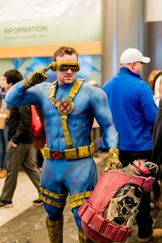 Cyclops from X-men Epic Cosplay, Male Cosplay, Xmen Cosplay, Anime Cosplay, Cosplay Characters, Comic Book Characters, Cool Costumes, Cosplay Costumes, X Men Costumes