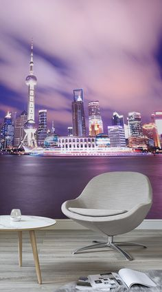 Our Shanghai Skyline Mural Wallpaper is a fantastic way to add creativity and deep colour to your interior decor. Let the beautiful purple and blue tones of this hustling metropolis transform your dull walls into something absolutely amazing. The Shanghai Skyline Mural Wallpaper is an amazing mural that will not only look stunning in any room of the home; it will also fit any colour scheme or design aspirations that you might have.#wallpaper #wallmurals #interior #design