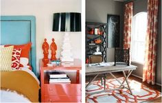 I like the tangerine color in the drapes