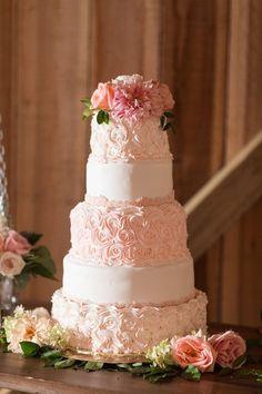 Pink Floral Wedding Cake Idea | Featured photographer: Katelyn James, Jillian Michelle Photography, Hannah Teague Photography