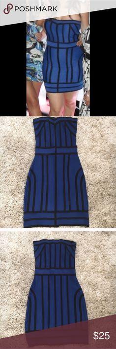 Arden B Blue Black Striped Strapless Bandage Dress Arden B Blue Black Striped Strapless Bandage Dress. Used once. Arden B Dresses