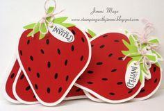 Strawberry Silhouette Invitations