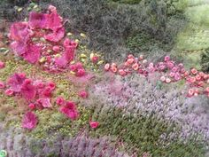 Castle Bolton Gardens Embroidered Felt Picture | Flickr - Photo Sharing!