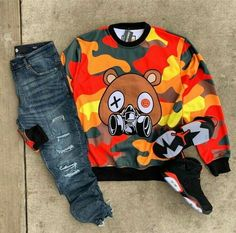 I like wearing camo outfits, but like dark color camo outfit's is something I like more. Dope Outfits For Guys, Swag Outfits Men, Stylish Mens Outfits, Tomboy Outfits, Tomboy Fashion, Streetwear Fashion, Mens Fashion, Streetwear Men, Camo Outfits