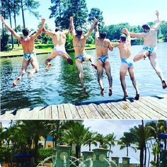 When men do what the women usually do another style of sexy. LOL #men #women #sexy #playtime #funny #water #jump #take photo #interesting #follow #love #like #comment