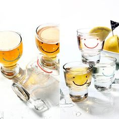 스마일 와글와글 맥주컵 6P + 소주잔 6P