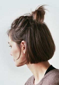Half-Up Bob - The Most Popular Short Hairstyles on Pinterest - Photos