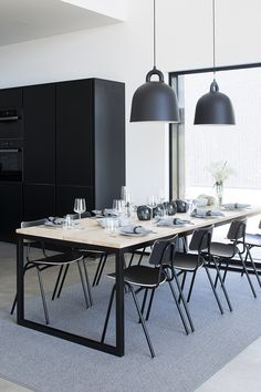 Dining room inspiration | Normann Copenhagen Bell lamp available at www.istome.co.uk