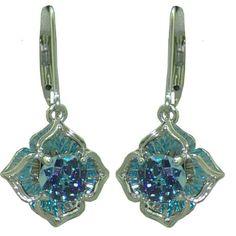 Blue Topaz Earrings (DaVinchi Cut) in 14 kw https://www.goldinart.com/shop/earring/colored-gemstone-earrings/blue-topaz-earrings-davinchi-cut-in-14-kw-copy
