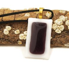 Glass Pendant Fused Glass Pendant Glass Jewelry. Purple and