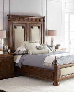 Van Buren California King Bed, Brown