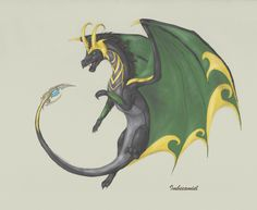 YES! YES! I FOUND THE LOKI DRAGON! I REPINNED AVENGER DRAGONS YESTERDAY AND WAS DISAPPOINTED THAT I COULDN'T FIND LOKI!