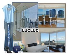 """""""Lucluc.com"""" by asia-12 ❤ liked on Polyvore featuring Pier 1 Imports, Avenue, Diane James, AG Adriano Goldschmied, Ray-Ban, Diane Von Furstenberg and Dsquared2"""