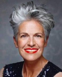 Try the Silver Pixie Hairstyles for Women Over 50