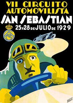 Spanish Art Deco Auto Grand Prix  1929 http://vintagevenus.com.au/products/vintage_poster_print-tr469