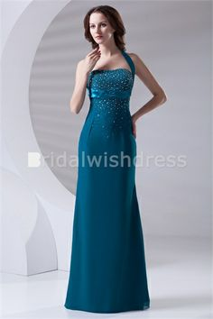 Fall Pageant Dresses Floor-Length Chiffon Elastic Woven Satin Special Occasion Dresses