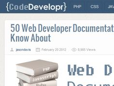 50+ Web Developer Documentation Manuals to know about from CodeDevelopr - http://www.codedevelopr.com/articles/50-web-developer-documentation-manuals-you-need-to-know-about/  #php #python #ruby  #javascript #jquery #html #css #webdeveloper