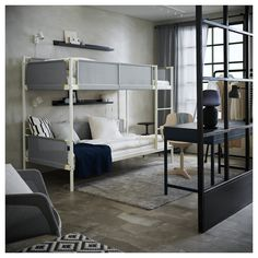 Idea, secrets, and manual with respect to getting the greatest end result and also attaining the maximum use of bunk beds for teens Bunk Bed Ladder, Bunk Beds With Stairs, Kids Bunk Beds, Bed Pocket, Beds For Small Rooms, High Beds, Full Mattress, Ikea Family, Bed Base