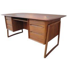 Svend Madsen Teak Executive Desk $4,500